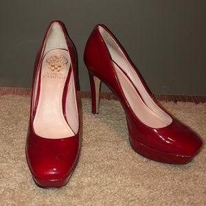 Ruby red Vince Camuto platform heels